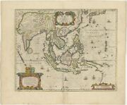 Antique Map Of The East Indies By Janssonius C.1644