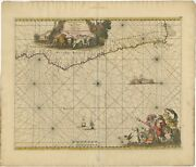Antique Map Of The Southwestern Coastline Of Africa By De Wit 1675