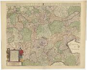 Antique Map Of Italy By De Wit C.1671