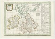 Antique Map Of England And Ireland By Lattre 1789