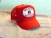 International Harvester Red Cap, Bad Ass Boys Drive Bad Ass Toys, New With Patch
