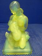Vintage Sabino Nude Statue Lady And Doves Aka Jeune Fille Aux Colombes