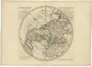 Antique Map Of The Northern Hemisphere By Dezauche 1782
