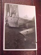 Original Wwii Rare Early 1942 Captured / Crashed Japanese Fighter Aircraft Photo