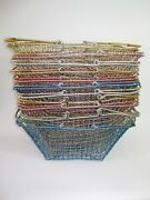 Vintage Industrial Style Anodized Aluminum Wire Market Baskets