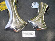 Pair Of Stainless Steel Exhaust Script Tips For The 39 40 41 Chevrolet 126