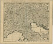 Antique Map Of Northern Italy And Surroundings By Visscher C.1690