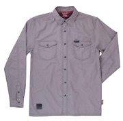 Indian Motorcycle Mens Lightweight Gray Washed Twill Shirt Logo Sizes M L Xl 2x