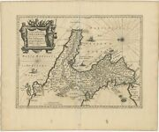 Antique Map Of Southern Italy By Janssonius C.1650