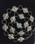 Native American Concho Belt Made By Artist Lorenzo Shirley 14 Conchos