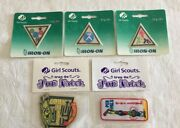 Girl Scout Patch Lot Of 5 Try-its / Fun Patches Nos Unopened Packages