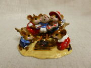 Wee Forest Folk Beach Party Fourth Of July Special M-297a Red White Blue