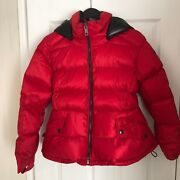 Nwt Fleetwood Down Puffer Jacket Bright Cherry Red Size M Xl Sold Out