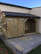 Log/bin Store - Heavy Duty Bespoke Timber Log Store - Free Delivery And Assembly