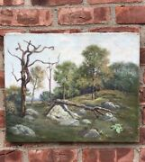 Impressionist Landscape O/c By Massachusets Artist Frank Chester Perry. Signed