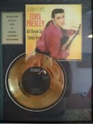 Elvis Presley 24k Gold Plated 45 Record A Side All Shook Up - B Side Teddy Bear