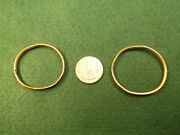 Neat Pair Of Vtg Antique Rose And Yellow Gold Filled Baby/young Girl Puffy Bangles