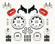 Wilwood Dynalite Front And Rear Brake Kit Its 1965-1968 Impala 12.19 Rotorsred