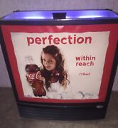 Coca Cola Refrigerated Cooler 1970and039s Advertising New 16oz Plastic Bottles