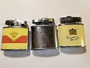 Retro Ronson Auer Champion Lighters - Collection Of 3 Three Table Lighters