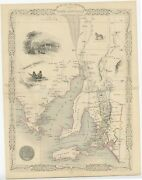 Antique Map Of South Australia By Tallis 1851