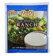 Chefand039s Finest Dry Salad Dressing Ranch 3.2 Ounce Pack Of 18