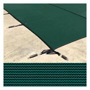 Meyco 24 X 48 Rectangle Meycolite Mesh Green Safety Pool Cover