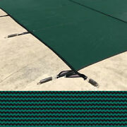 Meyco 30 X 50 Rectangle Meycolite Mesh Green Safety Pool Cover