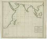Antique Map Of The Indian Ocean And Surroundings By Buffon C.1783