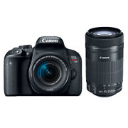 Canon Eos Rebel T7i Dslr Camera With 18-55mm + 55-250mm Is Stm Lens Brand New