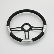 14and039and039 Billet Steering Wheels Black Full Wrap Ford Gm Corvair Impala Chevy Ii