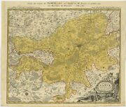 Antique Map Of The Region Of Namen By Homann 1746