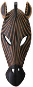 Gifts And Decor Carved Wood African Tribal Zebra Mask Wall Plaque Decor