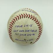 Incredible Brock Holt Cycle Game Signed Heavily Inscribed Baseball Mlb Authentic