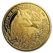 2016 Austria Prf Gold Andeuro100 Wildlife In Our Sights The Fox - Sku 104862