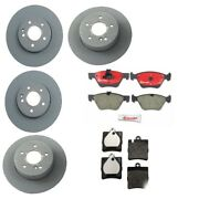 For Mercedes W208 C208 W210 Clk E-series Front And Rear Brake Disc Pads Brembo Kit