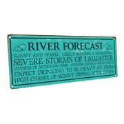 River Forecast Metal Sign Wall Decor For Vacation Home