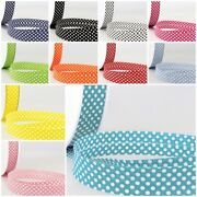 Stephanoise Best Quality Dotty Cotton Bias Binding 20mm - Free Post - 11 Colours