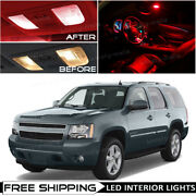 For 2007-2014 Chevy Tahoe Red Led Interior Lights Package Kit Car Bulbs Lamp O5