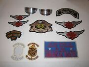 Harley-davidson Memorabilia - Patches, Stickers, Scarf And More - Tub Bn-20