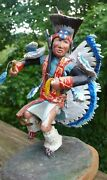 Collectible Southern Fancy Dancer , Handmade Vintage Statue