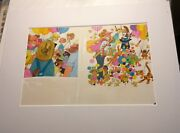 Jim Cummins Who Took The Top Hat Trick Original Illustration Matted Painting