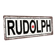 Rudolph Red Nose Metal Sign Wall Decor For Seasonal Ocassions