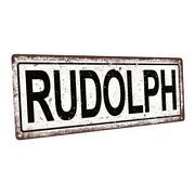 Rudolph Metal Sign Wall Decor For Seasonal Ocassions