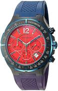 Versace 26ccs9d800 S872 Dv One Swiss Automatic Chrono Tachymeter Date Blue Watch