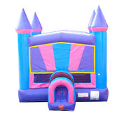 Commercial Inflatable Bounce House With Blower Outdoor Purple Castle Moonwalk