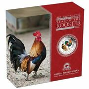 2017 2 Oz. Silver Proof Year Of The Rooster Colored Anda Coin Show Special