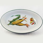 Evesham Vale By Royal Worcester Sole Oval Baking Dish 12.5 Long New Never Used