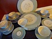 Vintage Castleton Flair China 21 Piece Set 6 Dinner 1 Bread Plate 7 Cup And Saucer