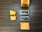 1957 1958 1959 Renault Parking Light Lamp Lenses Lh And Rh Pair Nors Glo Brite